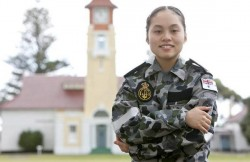 Teenager Fiona Nguyen, from Cairnlea, will undertake a year of Navy officer training before commencing at the Australian Defence Force Academy in Canberra.114415 Picture: DEPARTMENT OF DEFENCE